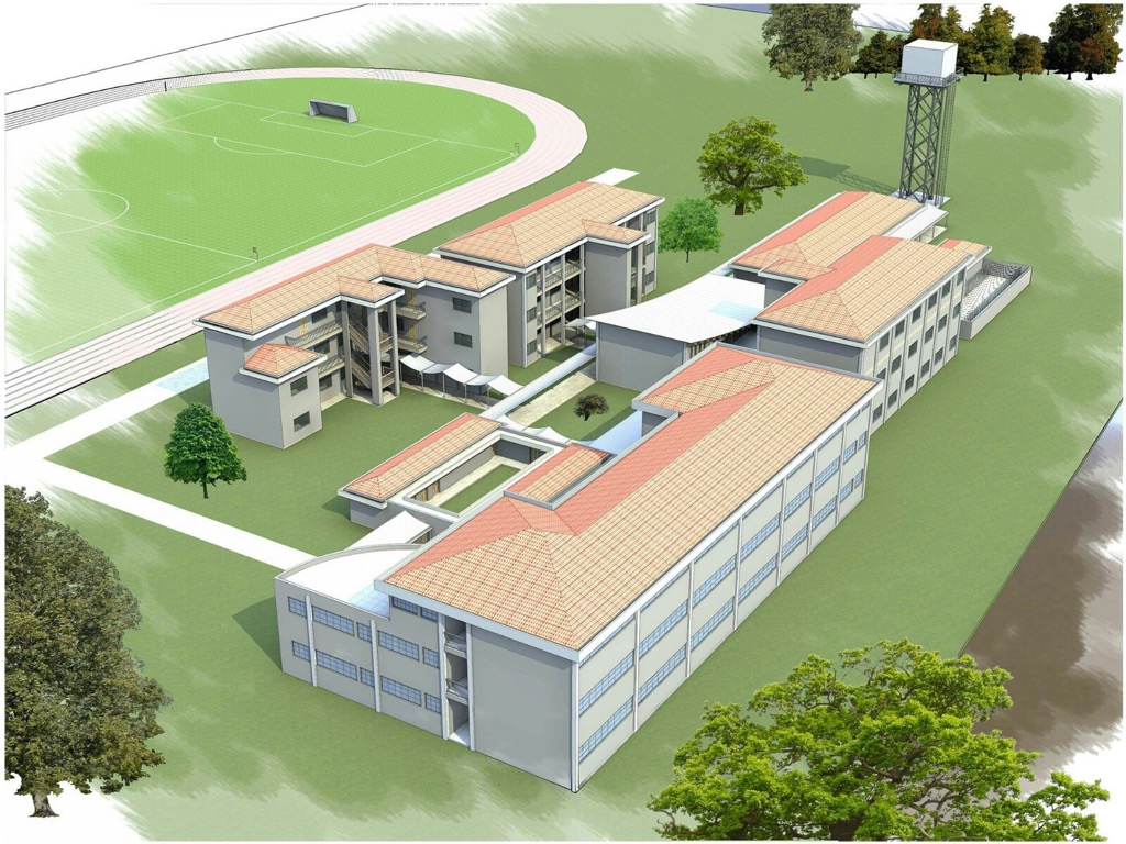 Secondary school building plan for School building design